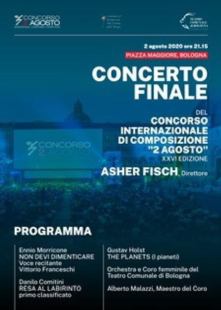 CONCERTO FINALE DEL CONCORSO INTERNAZIONALE DI COMPOSIZIONE 2 AGOSTO
